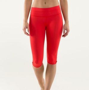 Red Size 4 Lululemon Crop Leggings Tights Workout